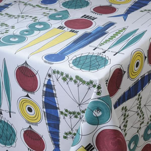 Multi Acrylic Wipe Clean Tablecloth