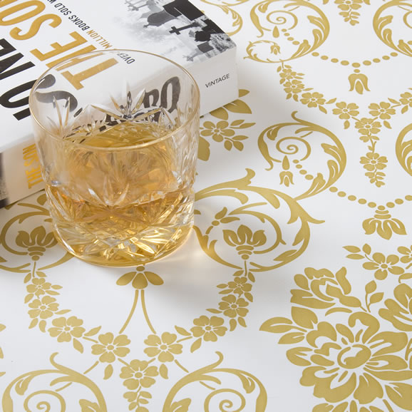 Gold PVC Tablecloth