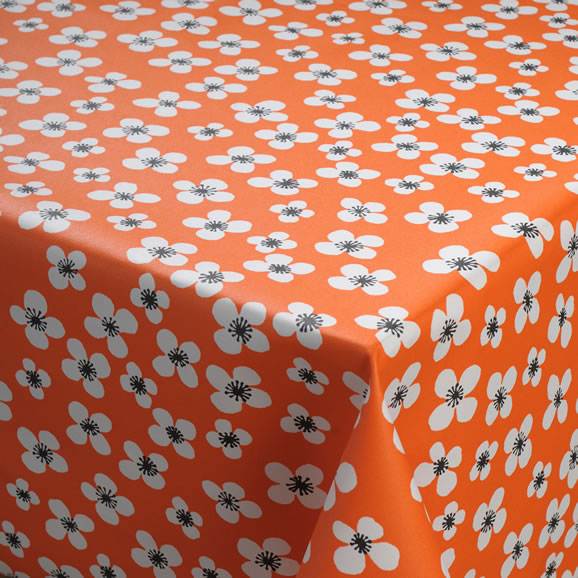 Orange PVC Tablecloth