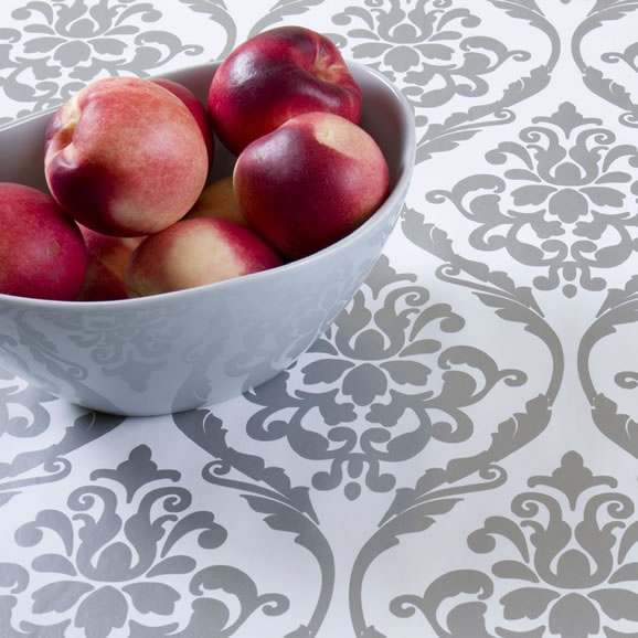Silver PVC Tablecloth