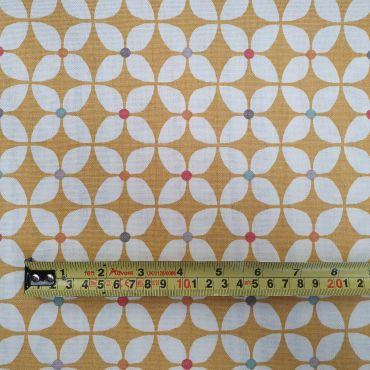 Narvik Ochre Yellow Cotton Curtain Fabric