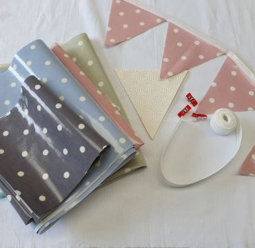 Make Your Own-Oilcloth Dotty Outdoor Bunting Kit 3 or 6 Metres