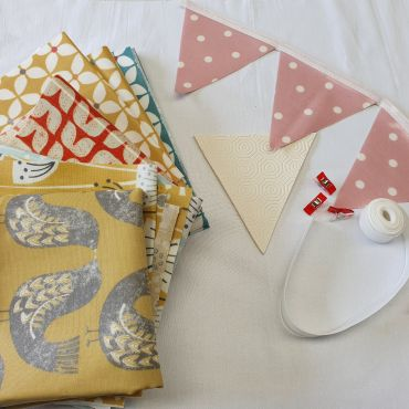 Make Your Own-Oilcloth Scandi Outdoor Bunting Kit 3 or 6 Metres
