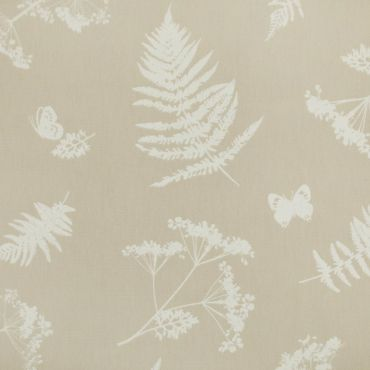 Taupe Moorland Wipe Clean Oilcloth Tablecloth