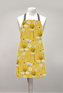 Bergen Ochre Yellow Adult or Child Oilcloth Wipe Clean Apron