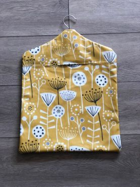 Bergen Ochre Wipe Clean Oilcloth Peg Bag