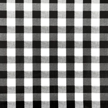 Black and White Gingham PVC Vinyl