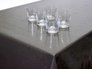 Brown Glitter Wipe Clean PVC Vinyl Tablecloth