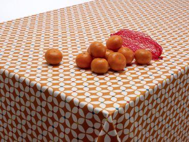 Marguerite Burnt Orange Scandi Wipe Clean Tablecloth