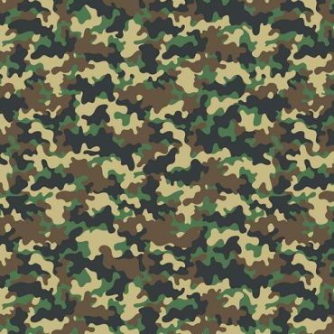 Crafting Quilting 100% Cotton Fabric Green, Brown and Grey Camouflage
