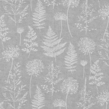 Chervil Dove Grey Meadow Floral 100% Cotton Fabric
