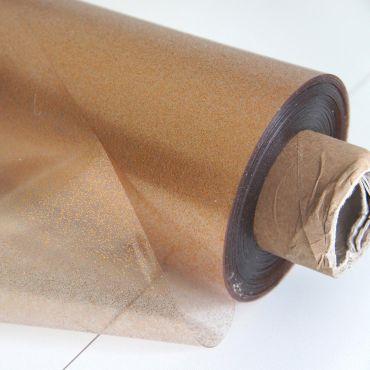 Copper Gold Sparkle Glitter PVC Tablecloth