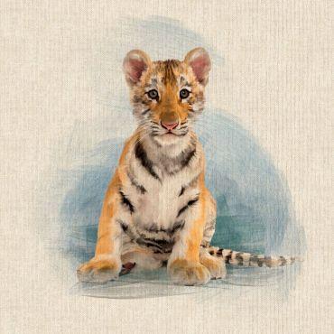 """Tiger Cubs 18"""" x 18"""" Cushion/Bag Panel"""