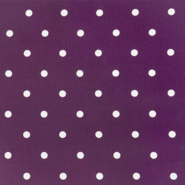 Dotty Berry Purple Polka Dot Curtain and Upholstery Fabric
