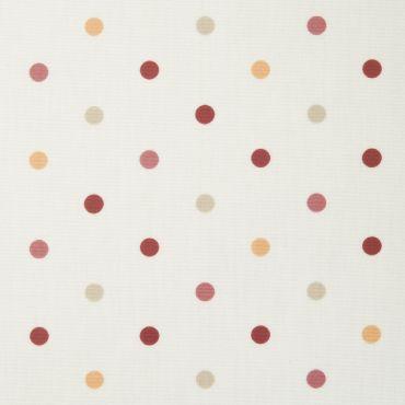 Dotty Brick Polka Dot Curtain and Upholstery Fabric