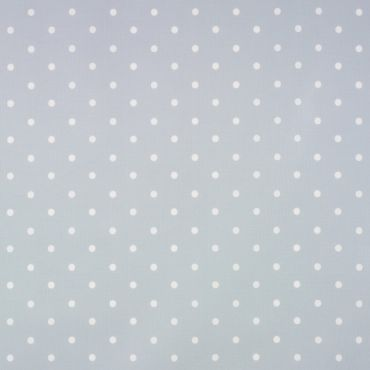 Dotty Grey/Blue Polka Dot Curtain and Upholstery Fabric