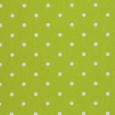 Dotty Lime Green Polka Dot Curtain and Upholstery Fabric