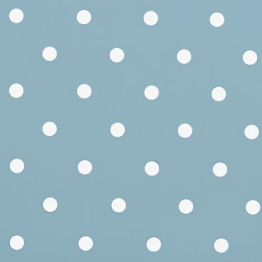 Dotty Powder Blue Polka Dot Curtain and Upholstery Fabric