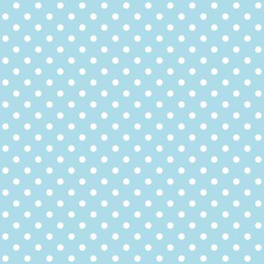 Dotty Sky Blue Polka Dot Curtain and Upholstery Fabric