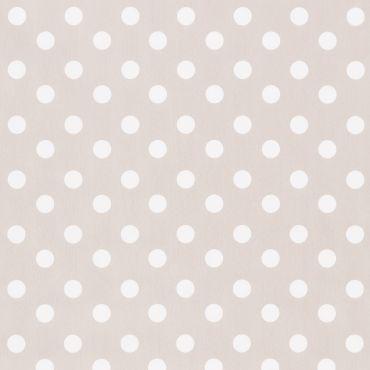Dotty Stone Beige Polka Dot PVC Vinyl Wipe Clean Tablecloth