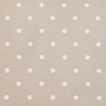 Dotty Taupe Polka Dot Curtain and Upholstery Fabric