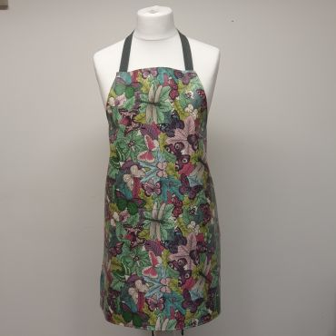 Green Duck Egg Dragonflies Bees and Butterflies Oilcloth Adult or Child Wipe Clean Aprons