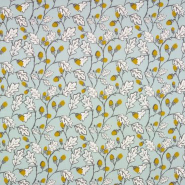 Duck Egg Acorns and Leaves Oilcloth Wipe Clean Tablecloth