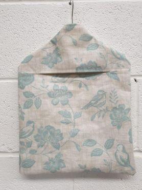 Duck egg Bird Garden Wipe Clean Oilcloth Peg Bag