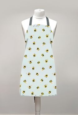 Duck Egg Honey Bees Adult or Child Oilcloth Wipe Clean Apron