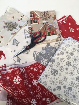 Christmas Oilcloth Offcuts Remnants Roll Ends
