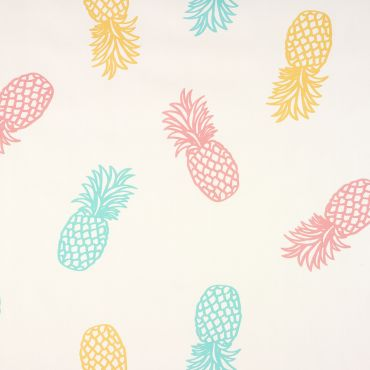 Blue pineapples PVC Vinyl Wipeclean Tablecloth
