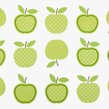 Green Apples Design PVC Vinyl Wipe Clean Tablecloth