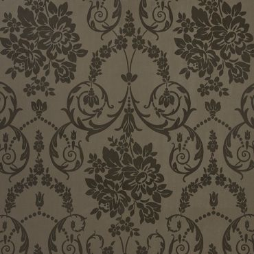 Brown and Black Damask PVC Vinyl Wipe Clean Tablecloth