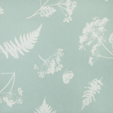 Duck Egg Moorland Floral Oilcloth Wipe Clean Tablecloth