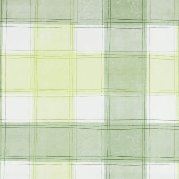 Green Traditional Checked PVC Vinyl Wipe Clean Tablecloth