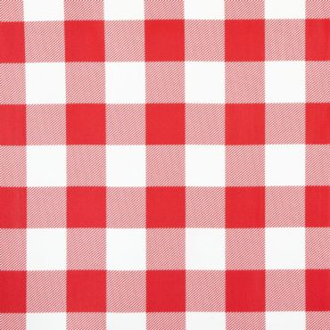 Red and White Gingham PVC Vinyl Wipe Clean Tablecloth