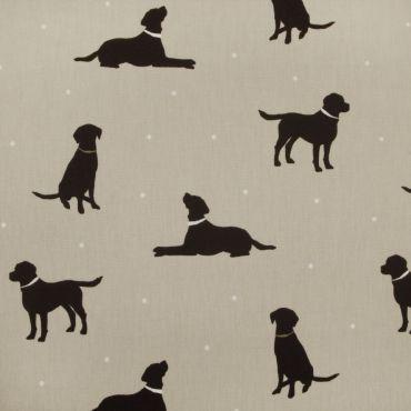 Taupe Labrador Oilcloth Tablecloth