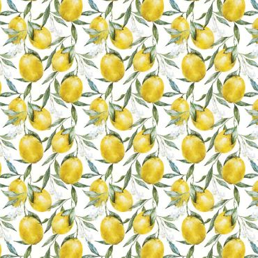 White and Yellow Lemons Crafting Quilting Cotton Fabric