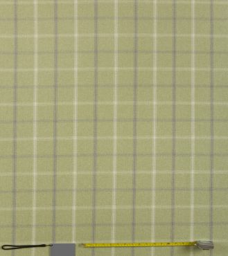 Lewis Sage Green Tartan Curtain and Upholstery Fabric
