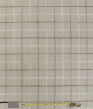 Lewis Taupe Tartan Curtain and Upholstery Fabric