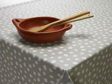 Light Grey Popcorn Oilcloth Tablecloth Banner