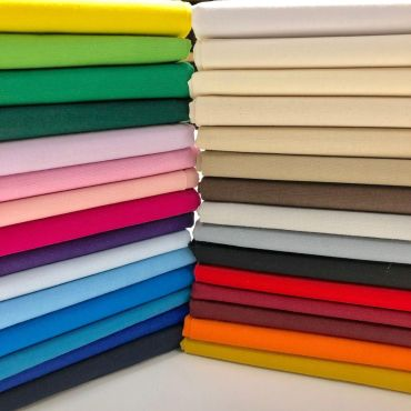 100% Cotton Fabric - 30 Different Colours-Perfect for Linings, Crafting, Facemasks