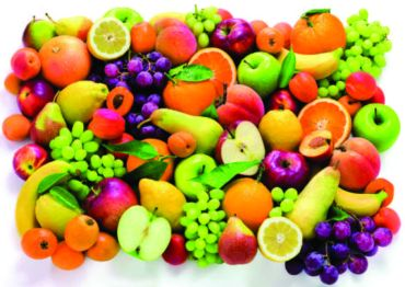 Multi Colour Fruit PVC Vinyl Tablecloth