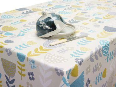 Duck Egg Tulpan Scandi Oilcloth Tablecloth