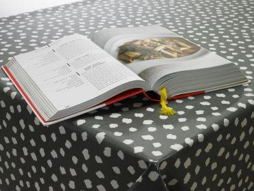 Smoke Grey Popcorn Oilcloth Tablecloth
