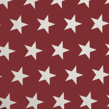 Red and White Large Star PVC Vinyl Wipe Clean Tablecloth
