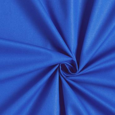 Crafting Quilting 100% Cotton Fabric Rose and Hubble Plain Royal Blue