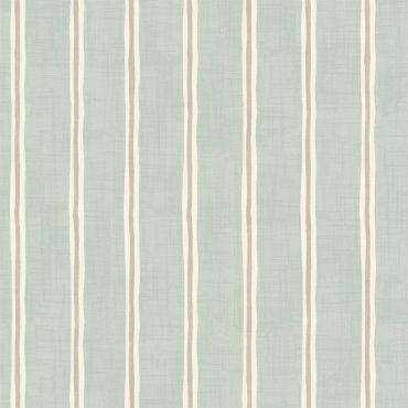 Duckegg Regatta Stripe 100% Cotton Curtain Upholstery Fabric