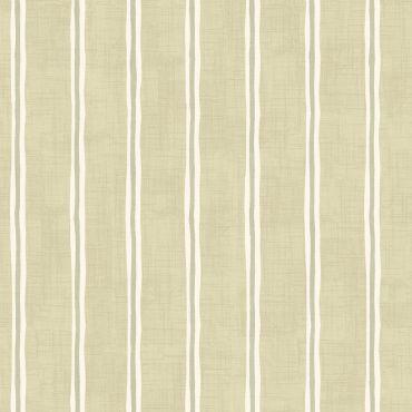 Sage Green Regatta Stripe 100% Cotton Curtain Upholstery Fabric