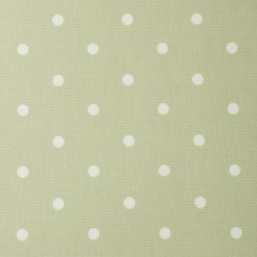 Dotty Sage Green Polka Dot Oilcloth Wipe Clean Tablecloth